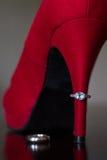 Talon et anneaux rouges Photo libre de droits