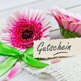 Talon z kwiatami obraz stock