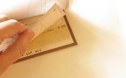 Talonario de cheques Foto de archivo libre de regalías
