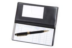 Talonario de cheques Imágenes de archivo libres de regalías