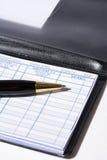 Talonario de cheques Imagen de archivo libre de regalías