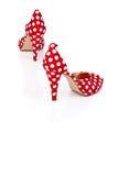 Talones de los zapatos de las mujeres altos Imagenes de archivo