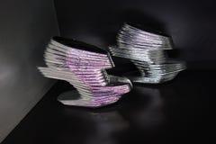 Talons de tueur : L'art de la chaussure à talons hauts 77 Images stock