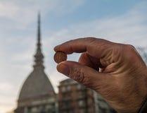 Talpa Antonelliana su 2 centesimi Fotografie Stock Libere da Diritti