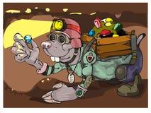 Talpa del personaggio dei cartoni animati Fotografia Stock Libera da Diritti