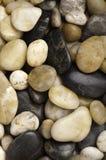 Talrijke types van versleten rivierrots Stock Foto
