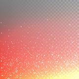 Talrijke vurige die vonken van de voorraad vectorillustratie, fonkelingen, lichten op een transparante geruite achtergrond worden Royalty-vrije Stock Afbeelding