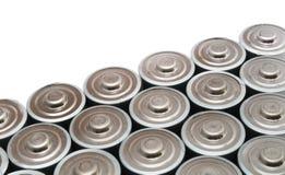 talrika aa-batterier Arkivbilder