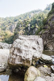 Talus in heshng brook Royalty Free Stock Photo