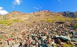 Talus Slope en una montaña Ridge Fotografía de archivo libre de regalías
