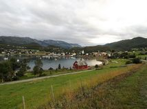 Talvik Fjord Grodzki schronienie Norwegia 1 zdjęcie royalty free