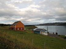 Talvik Norwegia Fjord Grodzki schronienie 2 obrazy royalty free