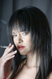 Talya with cigarette Royalty Free Stock Photo