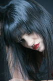 Talya ernstes Portrait Stockbild