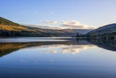 Talybont水库在威尔士 库存图片