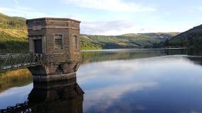 Talybont-Reservoir-Landschaft Lizenzfreie Stockbilder