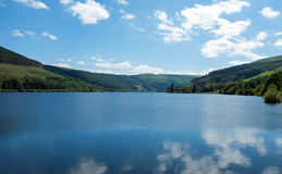 Talybont reservoir in the summertime in Wales. Royalty Free Stock Photo