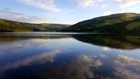Talybont rezerwuaru krajobraz Zdjęcia Royalty Free