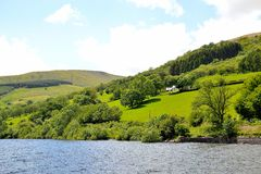 Talybont-on-usk valley and reservoir Royalty Free Stock Photography