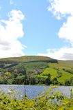 Talybont-on-usk valley and reservoir Royalty Free Stock Image