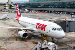 TAM Airbus A320 Images libres de droits