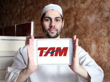 TAM Airlines Brazil logo Arkivfoto