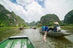Tam Coc, Ninh Binh,越南- 2014年9月14日 库存照片