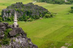Tam Coc - B�ch Dong is a popular tourist destination near the city of Ninh Binh in northern Vietnam. Royalty Free Stock Photo
