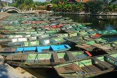 Tam coc boat harbor Stock Photos