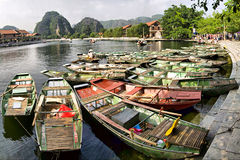 Tam Coc Jetty Stock Photo