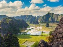Tam coc Nationalpark stockbilder