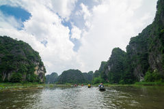 Tam Coc, Ninh Binh, Vietnam - September 14, 2014. Royalty Free Stock Photography