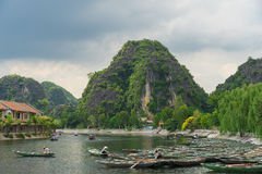Tam Coc, Ninh Binh, Vietnam - September 14, 2014. Royalty Free Stock Photos