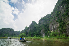 Tam Coc, Ninh Binh, Vietnam - September 14, 2014. Royalty Free Stock Photo