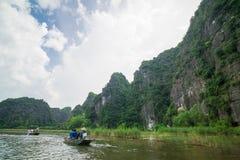 Tam Coc, Ninh Binh, Vietnam - September 14, 2014. Royalty Free Stock Photo
