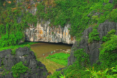 Tam coc river Royalty Free Stock Photos