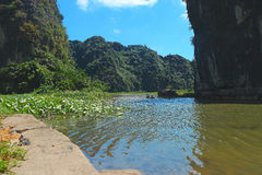 Tam coc river Stock Images
