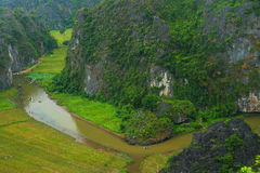 Tam coc river Stock Photo