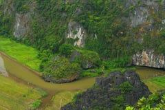 Tam coc river Stock Photos