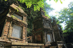 Tam coc 3 temples on mountain Royalty Free Stock Photography