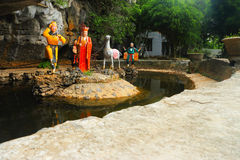 Tam coc 3 temples on mountain Royalty Free Stock Images