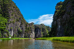 Tam Coc tourist destination in Vietnam Royalty Free Stock Photo
