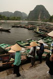 Tam Coc Vietnam. Tam Coc in Vietnam (known as the Halong Bay on land Stock Image