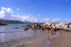 Tam są pewni sezony dokąd plaża jest pusta obrazy royalty free