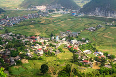 Tam Son town, Quan Ba, Ha Giang, Vietnam. Quan Ba is a rural district of Ha Giang province in the Northeast region of Vietnam. Ha Giang is the place where Stock Images