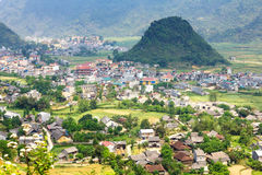 Tam Son town, Quan Ba, Ha Giang, Vietnam. Quan Ba is a rural district of Ha Giang province in the Northeast region of Vietnam. Ha Giang is the place where Royalty Free Stock Photography