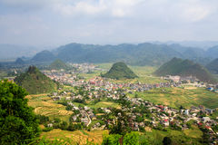 Tam Son town, Quan Ba, Ha Giang, Vietnam. Quan Ba is a rural district of Ha Giang province in the Northeast region of Vietnam. Ha Giang is the place where Stock Photo