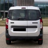 Tamaños de la escala de la furgoneta del dokker de Dacia, listos para diseñar, dimensiones del coche, vehículo que envuelve, en l stock de ilustración