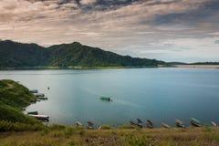 Tama jest dla budowy wielka tamy woda od Khun Dan p, Obraz Stock