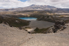 Tama Lake in Tongariro National Park. In New Zealand Royalty Free Stock Photo